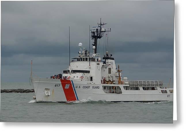 Greeting Card featuring the photograph Coast Guard Cutter Vigilant by Bradford Martin