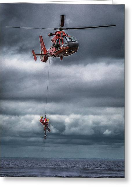 Coast Guard Rescue Operation  Greeting Card