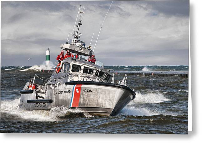 Coast Guard Greeting Card by Wade Aiken