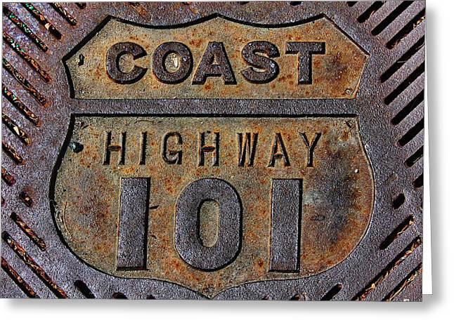 Coast Highway 101 Greeting Card by Russ Harris