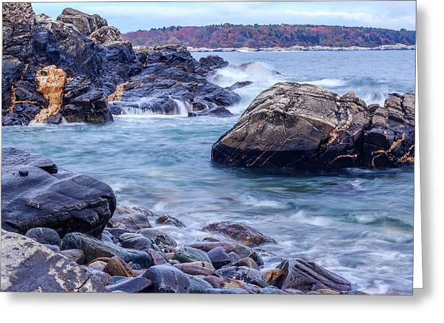 Coast Of Maine In Autumn Greeting Card