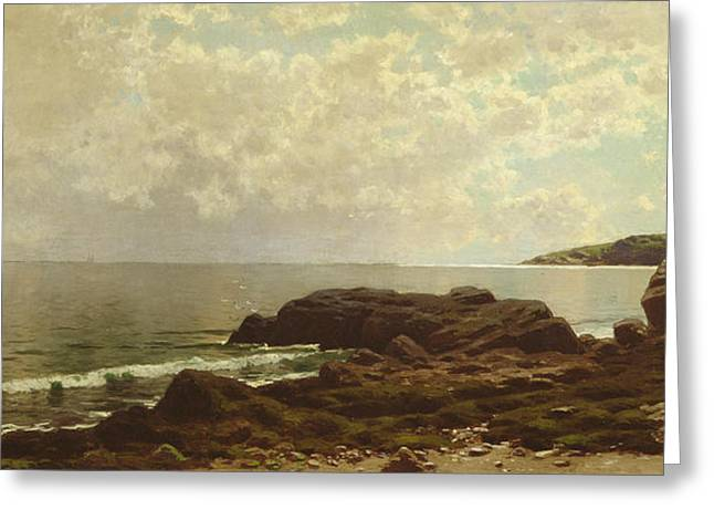 Coast Off Grand Manan Greeting Card by Alfred Thompson Bricher