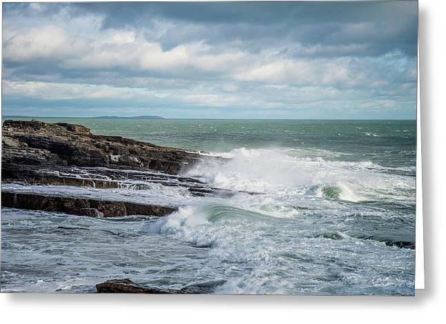 Coast Off The Hook Lighthouse Greeting Card by Martina Fagan