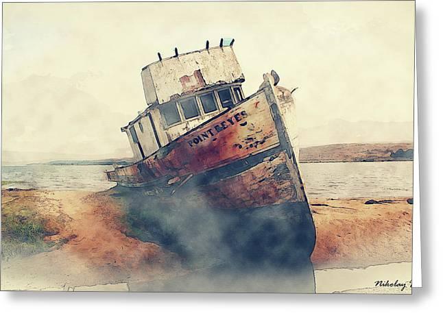 Coast Painting-17 Greeting Card by Nikolay Ivanov