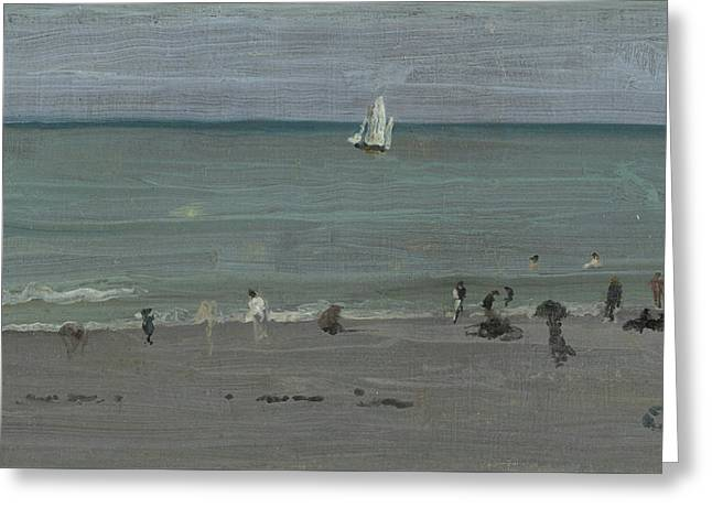 Coast Scene, Bathers Greeting Card by James Abbott McNeill Whistler