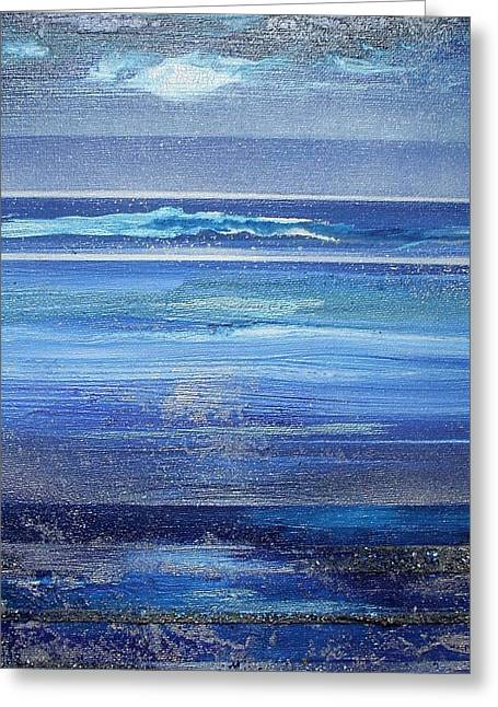 Coast Series Blue Am6 Greeting Card by Mike   Bell