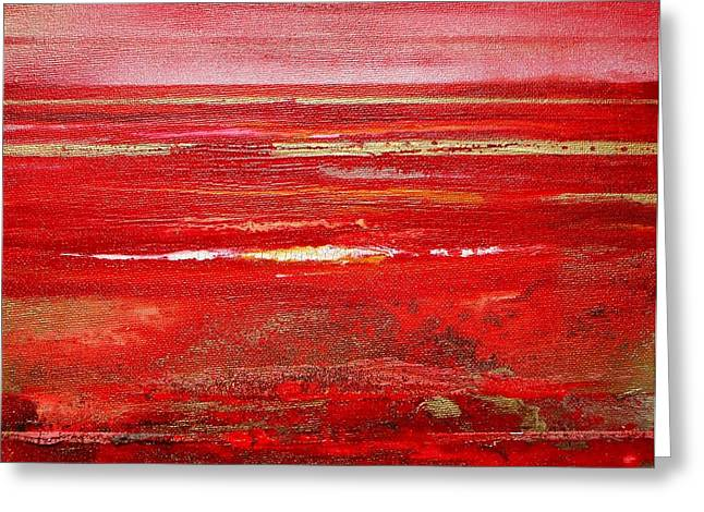 Coast Series Red Am8 Greeting Card by Mike   Bell