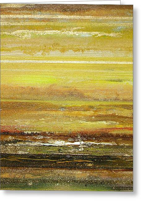Coast Series Yellow Am9 Greeting Card by Mike   Bell
