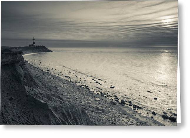 Coast With A Lighthouse Greeting Card by Panoramic Images