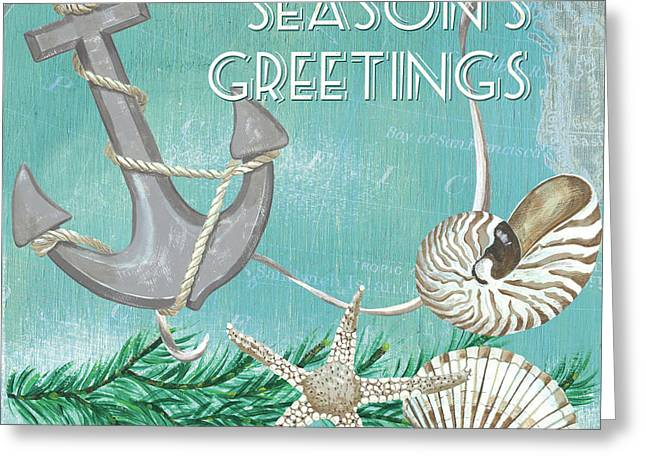 Coastal Christmas 4 Greeting Card by Debbie DeWitt