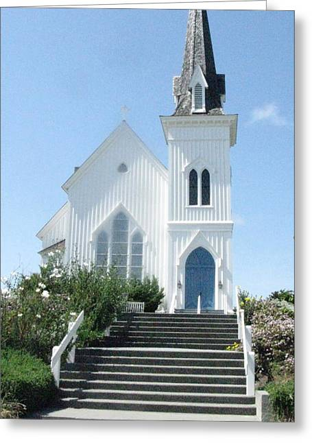 Coastal Church Greeting Card