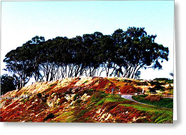 Coastal Cliff Greeting Card by Tim Tanis