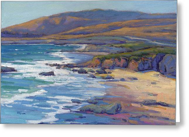 Coastal Cruising 8, San Simeon Greeting Card