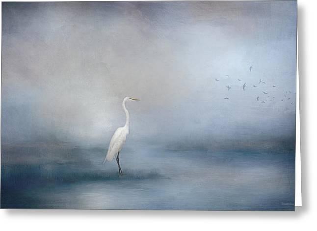 Coastal Egret Greeting Card