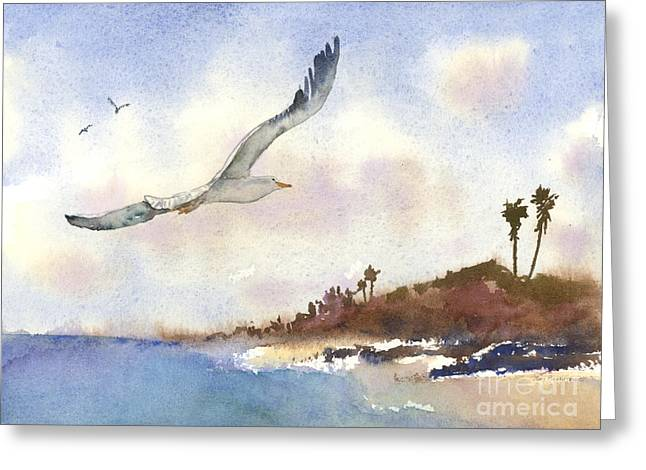 Coastal Flight Greeting Card