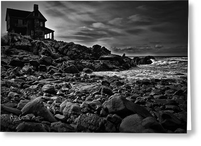 Coastal Home  Kennebunkport Maine Greeting Card by Bob Orsillo
