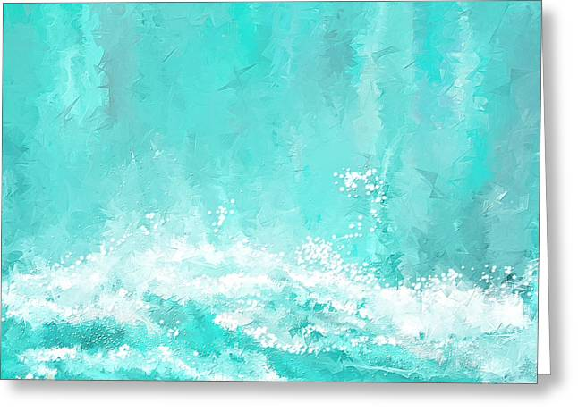 Coastal Inspired Art Greeting Card by Lourry Legarde