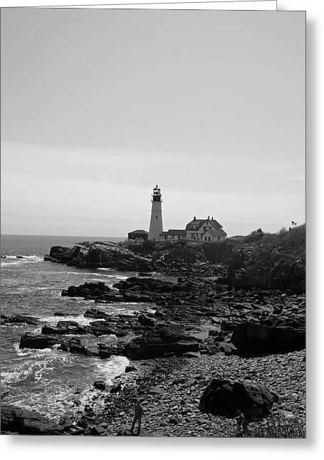 Coastal Maine Greeting Card by Becca Brann
