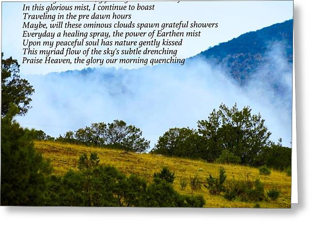 Coastal Mist Greeting Card by David Norman