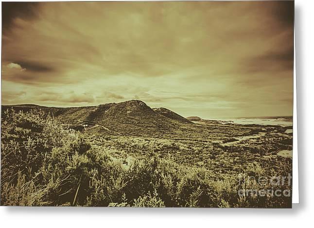 Coastal Mountain Range  Greeting Card by Jorgo Photography - Wall Art Gallery
