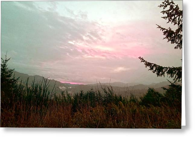 Coastal Mountain Sunrise Viii Greeting Card
