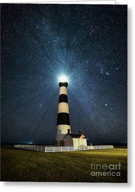 Coastal Nights Greeting Card by Anthony Heflin