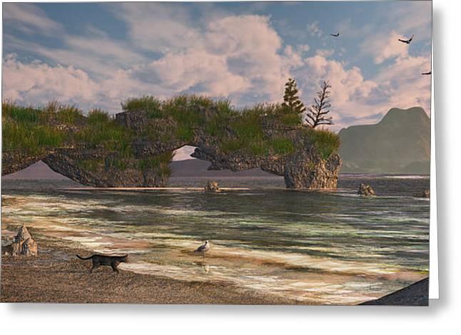 Coastal Paradise Greeting Card by Mary Almond
