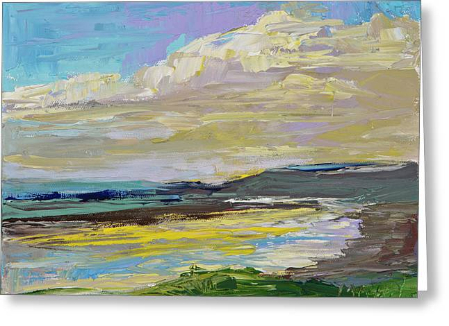 Coastal River Greeting Card by Marie Massey