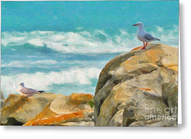 Coastal Rocks Greeting Card