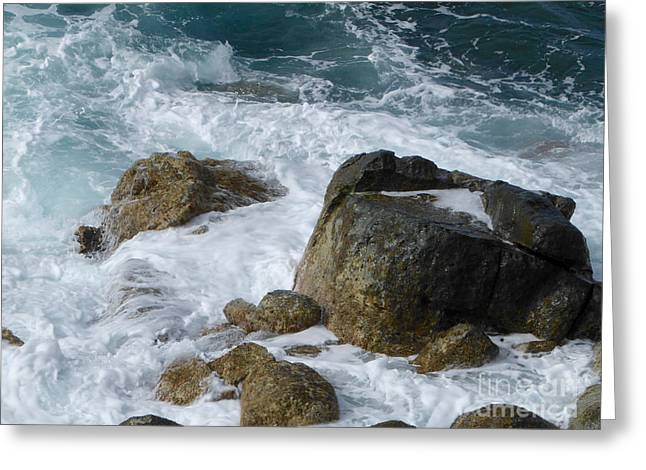 Coastal Rocks Trap Water Greeting Card