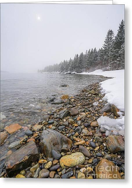 Coastal Snow Greeting Card by Benjamin Williamson