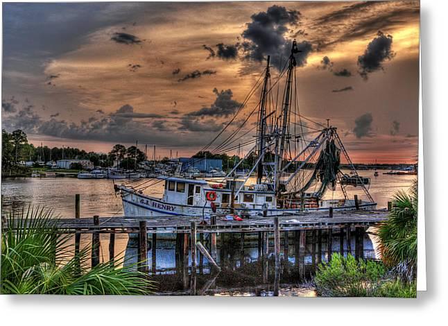 Coastal Sunset Greeting Card