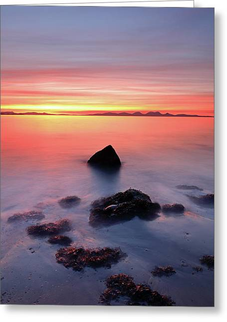 Greeting Card featuring the photograph Coastal Sunset Kintyre by Grant Glendinning