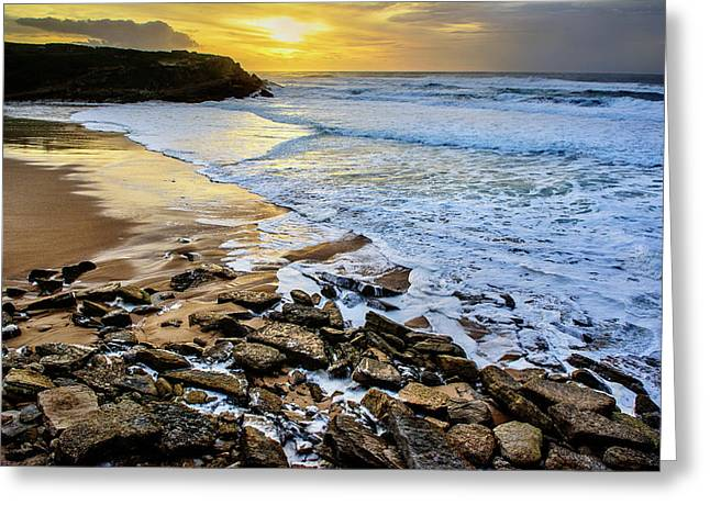 Greeting Card featuring the photograph Coastal Sunset by Marion McCristall