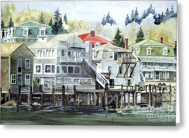 Coastal Village Greeting Card