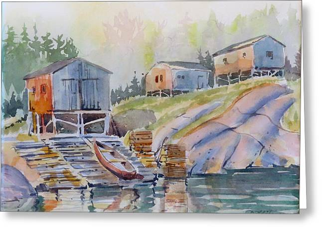 Coastal Village - Newfoundland Greeting Card