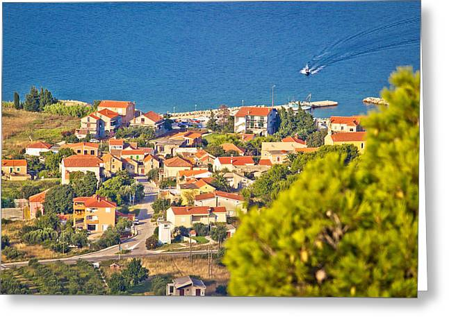 Coastal Village On Island Of Pasman Greeting Card