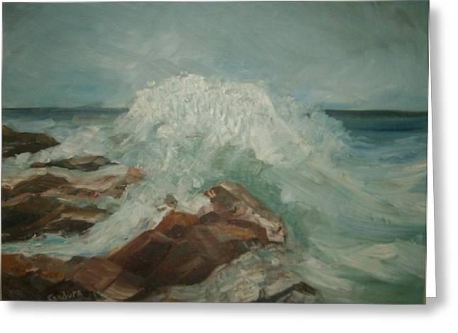Coastal Waters Greeting Card by Joseph Sandora Jr