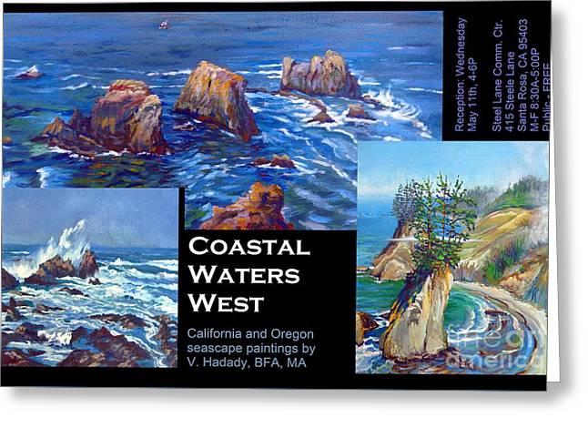 Coastal Waters West Greeting Card