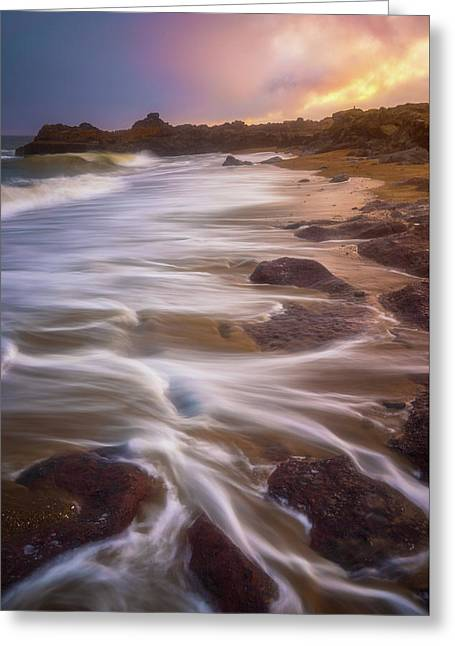 Greeting Card featuring the photograph Coastal Whispers by Darren White