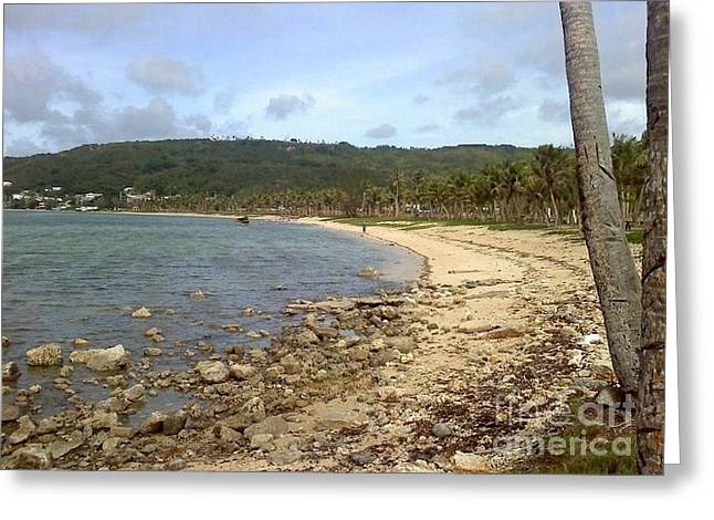Coastline In Guam II Greeting Card