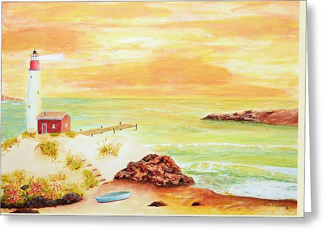Coastline Lighthouse Greeting Card