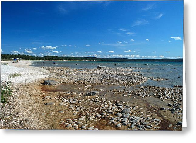 Coastline Of Lake Michigan  Near Petoskey State Park - Little Traverse Bay Greeting Card