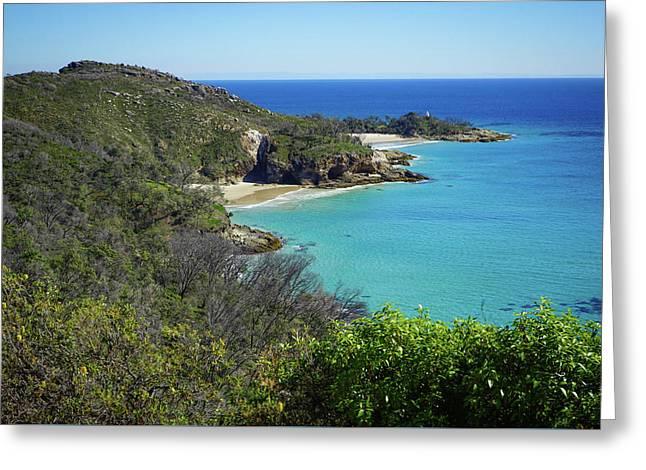 Coastline Views On Moreton Island Greeting Card