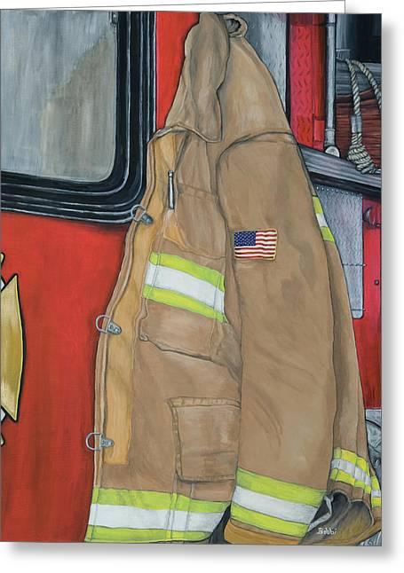 Coat Of Courage U.s. Greeting Card by Bobbi Whelan