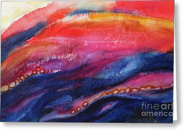 Greeting Card featuring the painting Coatings And Deposits Of Color by Kathy Braud