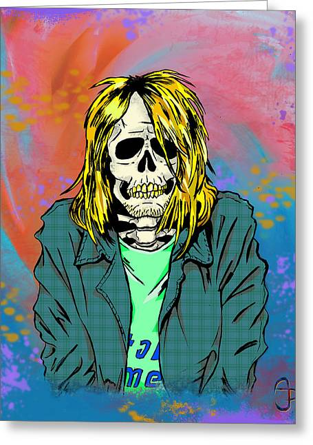 Cobain Greeting Card by Andre Peraza