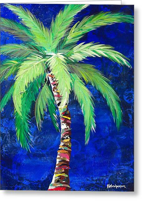 Cobalt Blue Palm II Greeting Card