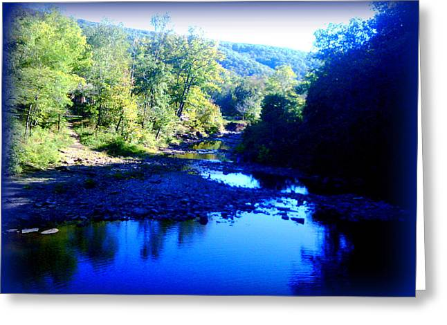 Cobalt Creek Greeting Card by Lesli Sherwin