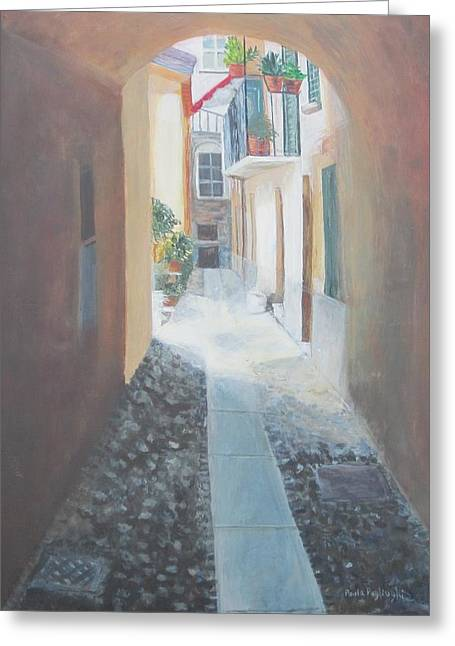 Cobblestone Alley Greeting Card
